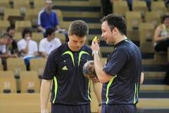 handball arbitrzy Fotografia Stock