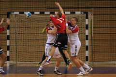 Handball assist Royalty Free Stock Photo