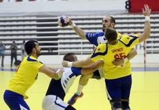 Handball atak Zdjęcie Royalty Free