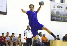 Handball atak Obraz Royalty Free
