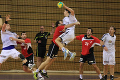 Handball attack Royalty Free Stock Photo