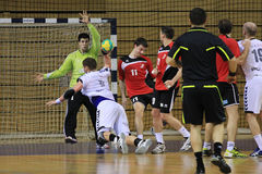 Handball attack Stock Photo