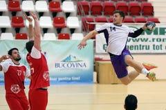 Handball attack Stock Images