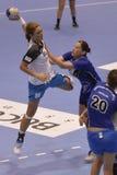 Handball attack Stock Image