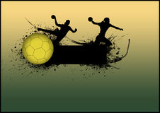 Handball background Stock Image