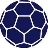 Handball Ball Blue. Icon vector Royalty Free Stock Photography