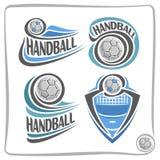 Handball-Ball Logo des Vektors abstrakter Lizenzfreie Stockfotografie
