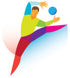 Handball bramkarz Fotografia Stock
