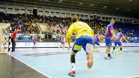 Handball championship Poland-Ukraine in Kiev, Ukraine, stock footage