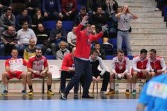 Handball coach, Eliodor Voica Stock Photos