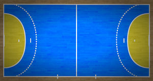 Handball Court. An overhead view of a handball court complete with markings Stock Photography