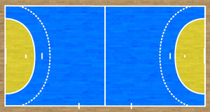 Handball Court. An overhead view of a handball court complete with markings Royalty Free Stock Image