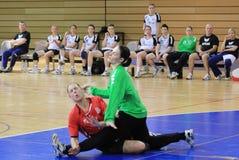 Handball crash (injury) Stock Photography