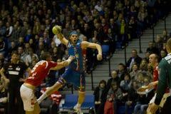 Handball d'Aalborg - AG Copenhague Images stock