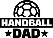 Handball dad. With ball vector Royalty Free Stock Image