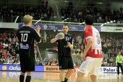 Handball de AaB - handball de FCK (35-31) Imagem de Stock