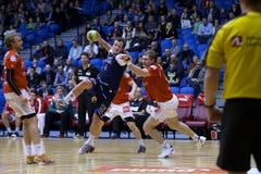 Handball de Alborgue - handball de Lemvig Thyborøn Fotos de Stock