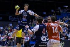 Handball de Alborgue - handball de Lemvig Thyborøn Imagens de Stock Royalty Free