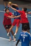 Handball 2013 de GCUP. Granollers. Imagem de Stock Royalty Free