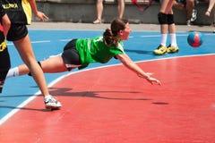 Handball 2013 de GCUP. Granollers. Foto de Stock Royalty Free