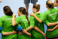 Handball 2013 de GCUP. Granollers. Photo stock