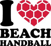 Handball de plage du coeur i illustration stock
