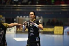 Handball dopasowanie - CSM Bucharest i Midtjylland Zdjęcie Royalty Free