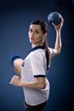Handball dziewczyna Fotografia Stock
