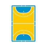 Handball field icon Royalty Free Stock Photo