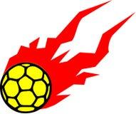 Handball Flying Fire. Handball Flying ball with Fire vector Stock Image