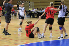 Handball foul Stock Images