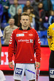 Handball game Motor vs Aalborg Stock Image
