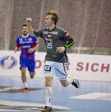 Handball game Motor vs Aalborg Stock Image
