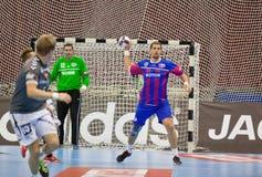 Handball game Motor vs Aalborg Royalty Free Stock Photo