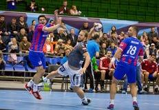 Handball game Motor vs Aalborg Stock Photo