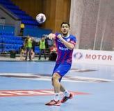 Handball game Motor vs Aalborg Stock Images
