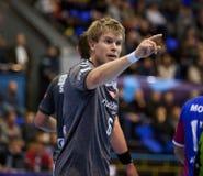 Handball game Motor vs Aalborg Stock Photos