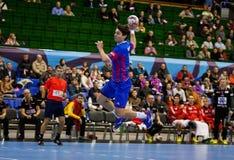 Handball game Motor vs Aalborg Royalty Free Stock Images