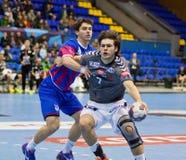 Handball game Motor vs Aalborg Royalty Free Stock Image