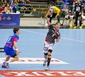 Handball game Motor vs Aalborg Royalty Free Stock Photos