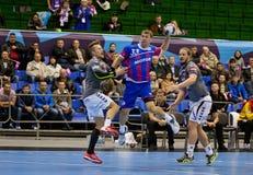 Handball game Motor vs Aalborg Royalty Free Stock Photography