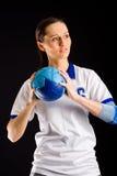 Handball girl Stock Images