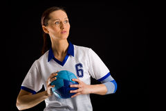 Handball girl Stock Photos