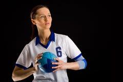 Handball girl Stock Photos
