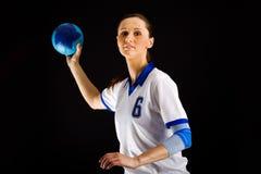 Handball girl Stock Photography