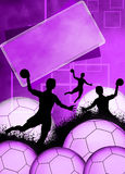Handball girl background Stock Photography