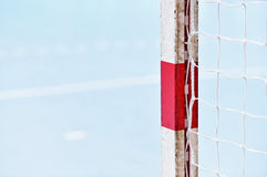 Handball goalpost detail Royalty Free Stock Image