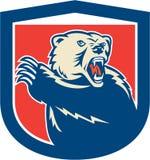 Handball gracza Skokowego miotania okręgu Balowy Woodcut Obraz Stock