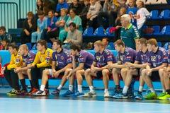 Handball gracze Obrazy Stock