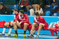 Handball gracze Zdjęcie Stock